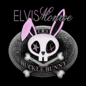 BUCKLE BUNNY - Women's Short Sleeve Crew Neck T-shirt - Black Design