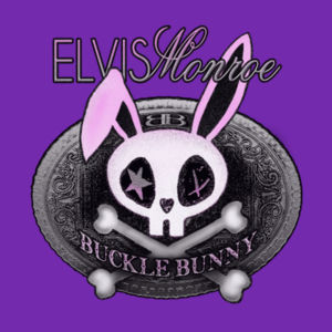 BUCKLE BUNNY - Women's Short Sleeve Crew Neck T-shirt - Purple Design