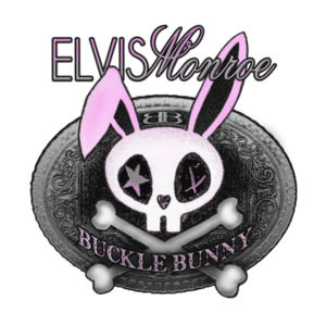 BUCKLE BUNNY - Premium 3/4 Sleeve Baseball T-shirt - White/Black Design