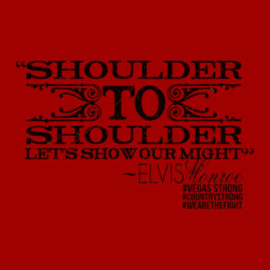 SHOULDER TO SHOULDER - Premium S/S T-shirt - Red Design