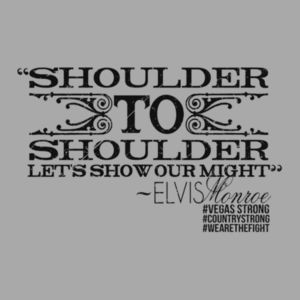 SHOULDER TO SHOULDER - Premium S/S T-shirt - Light Heather Gray Design
