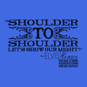 SHOULDER TO SHOULDER - Premium S/S T-shirt - Royal Heather Design