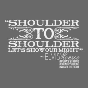 SHOULDER TO SHOULDER - Premium S/S T-shirt - Charcoal Heather Gray Design
