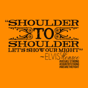 SHOULDER TO SHOULDER - Premium S/S T-shirt - Burnt Orange Design