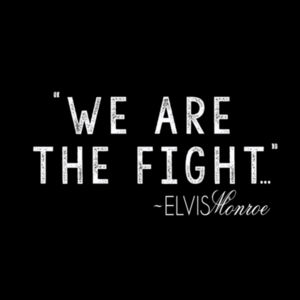 WE ARE THE FIGHT - Women's Short Sleeve V-neck T-shirt - Black Design