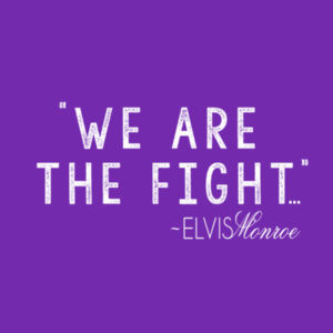WE ARE THE FIGHT - Women's Short Sleeve V-neck T-shirt - Purple Design