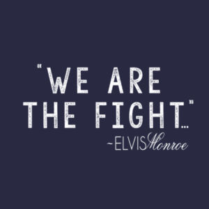 WE ARE THE FIGHT - Women's Short Sleeve V-neck T-shirt - Navy Design