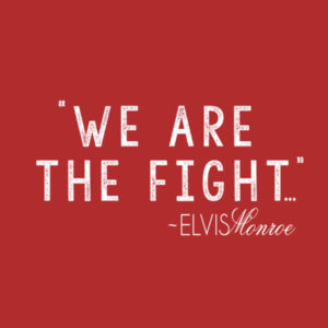WE ARE THE FIGHT - Women's Short Sleeve V-neck T-shirt - Red Design
