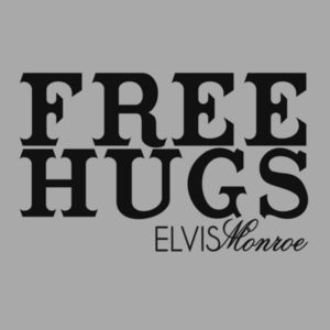 FREE HUGS - PREMIUM PULLOVER HOODIE - LIGHT GRAY HEATHER Design