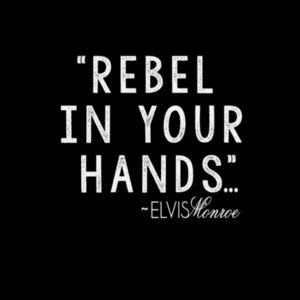 REBEL IN YOUR HANDS - Premium S/S T-shirt - Black Design