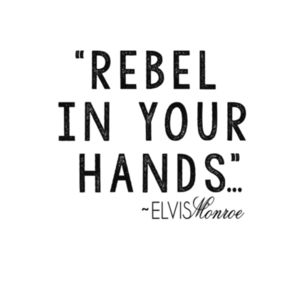 REBEL IN YOUR HANDS - Premium S/S T-shirt - White Design