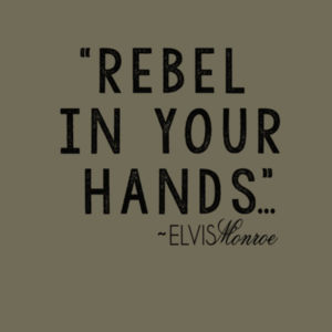REBEL IN YOUR HANDS - Premium S/S T-shirt - Military Green Design