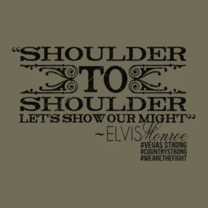 SHOULDER TO SHOULDER - Premium S/S T-shirt - Military Green Design