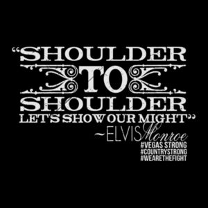 SHOULDER TO SHOULDER - Women's Short Sleeve V-neck T-shirt - Black Design