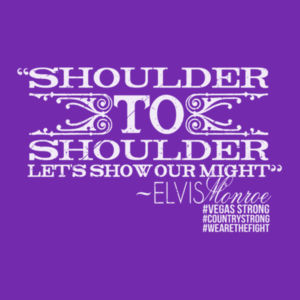 SHOULDER TO SHOULDER - Women's Short Sleeve V-neck T-shirt - Purple Design