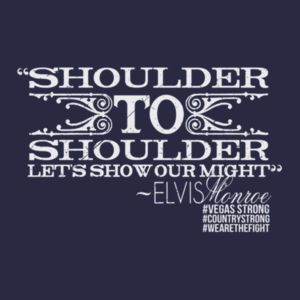 SHOULDER TO SHOULDER - Women's Short Sleeve V-neck T-shirt - Navy Design