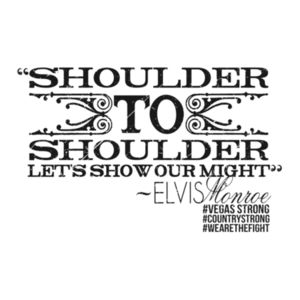 SHOULDER TO SHOULDER - Women's Short Sleeve V-neck T-shirt - White Design