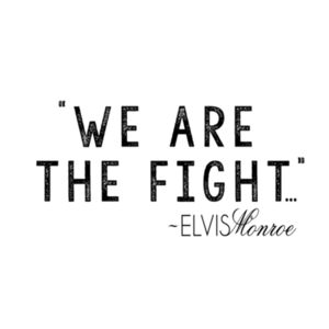 WE ARE THE FIGHT - Premium 3/4 Sleeve Baseball T-shirt - White/Black Design