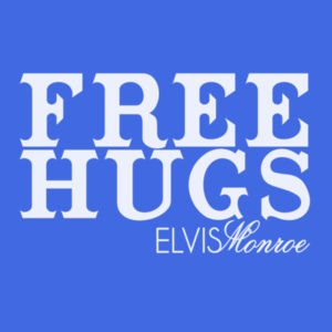FREE HUGS - S/S PREMIUM TEE - ROYAL BLUE Design