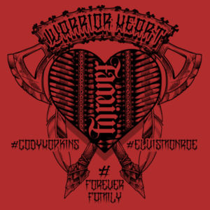 100% OF PROFITS DONATED TO FAREWALL TOUR OF BRYAN'S BROTHER CODY - WARRIOR HEART Design