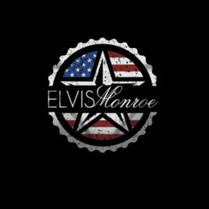 ELVIS MONROE STAMP FULL PRINT - PREMIUM UNISEX FACE MASK - BLACK Design