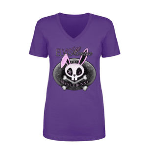 BUCKLE BUNNY - Women's Short Sleeve Crew Neck T-shirt - Purple Thumbnail