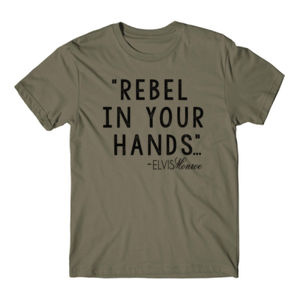 REBEL IN YOUR HANDS - Premium S/S T-shirt - Military Green Thumbnail