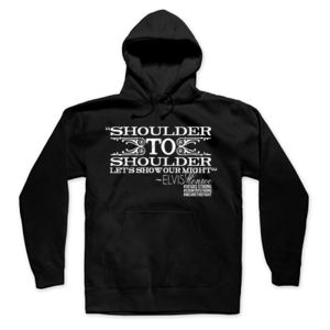 SHOULDER TO SHOULDER - Premium Pullover Hoodie - Black Thumbnail