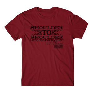 SHOULDER TO SHOULDER - Premium S/S T-shirt - Red Thumbnail