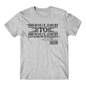 SHOULDER TO SHOULDER - Premium S/S T-shirt - Light Heather Gray Thumbnail