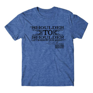 SHOULDER TO SHOULDER - Premium S/S T-shirt - Royal Heather Thumbnail
