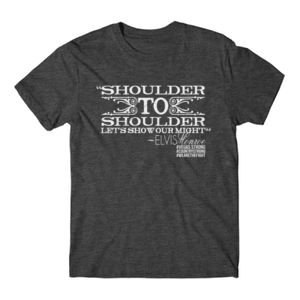 SHOULDER TO SHOULDER - Premium S/S T-shirt - Charcoal Heather Gray Thumbnail