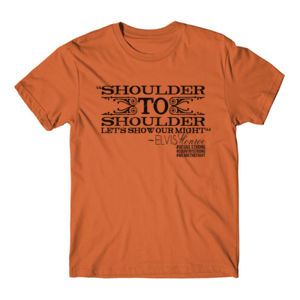 SHOULDER TO SHOULDER - Premium S/S T-shirt - Burnt Orange Thumbnail