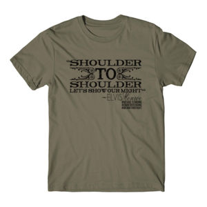 SHOULDER TO SHOULDER - Premium S/S T-shirt - Military Green Thumbnail