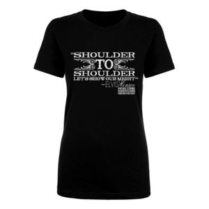 SHOULDER TO SHOULDER - Women's Short Sleeve Crew Neck T-shirt - Black Thumbnail
