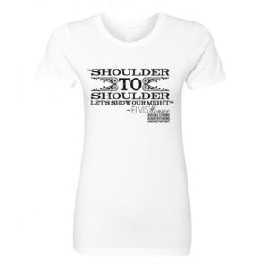 SHOULDER TO SHOULDER - Women's Short Sleeve Crew Neck T-shirt - White Thumbnail