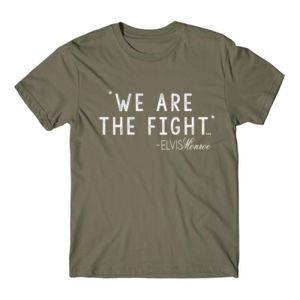 WE ARE THE FIGHT - Premium S/S T-shirt - Military Green Thumbnail