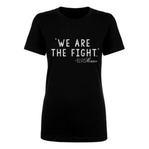 WE ARE THE FIGHT - Women's Short Sleeve Crew Neck T-shirt - Black Thumbnail