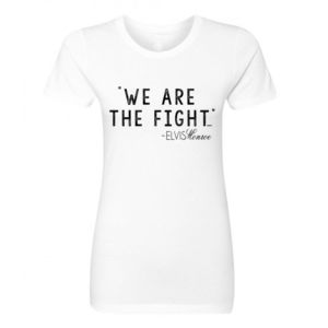WE ARE THE FIGHT - Women's Short Sleeve Crew Neck T-shirt - White Thumbnail