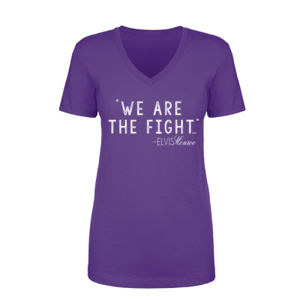 WE ARE THE FIGHT - Women's Short Sleeve V-neck T-shirt - Purple Thumbnail