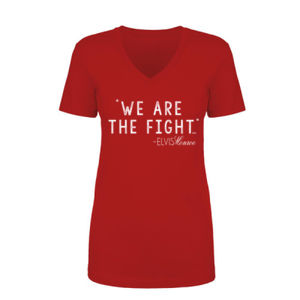 WE ARE THE FIGHT - Women's Short Sleeve V-neck T-shirt - Red Thumbnail