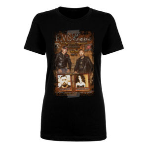 CEDARWOOD SALOON LIVE - Women's Short Sleeve Crew Neck T-shirt - Black Thumbnail