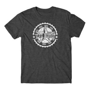 RETRO LOGO White - Premium S/S T-shirt - Charcoal Heather Gray Thumbnail