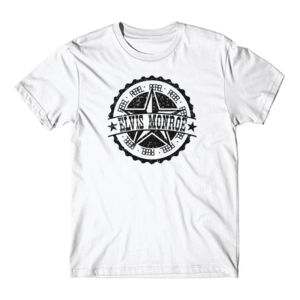 RETRO LOGO Black- Premium S/S T-shirt - White Thumbnail
