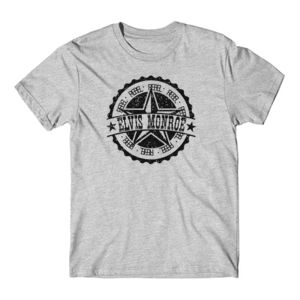 RETRO LOGO Black - Premium S/S T-shirt - Light Heather Gray Thumbnail