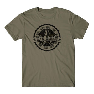 RETRO LOGO Black - Premium S/S T-shirt - Military Green Thumbnail