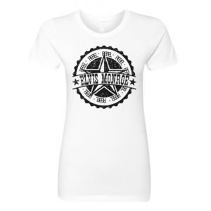 RETRO LOGO Black - Ladies Short Sleeve T-shirt - White Thumbnail