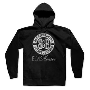 B&B RECORDS - PREMIUM PULLOVER HOODIE - BLACK Thumbnail