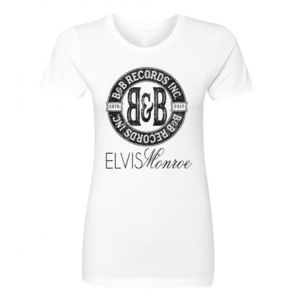 B&B RECORDS - WOMEN'S S/S PREMIUM TEE - WHITE Thumbnail