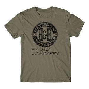 B&B RECORDS - S/S PREMIUM TEE - MILITARY GREEN Thumbnail